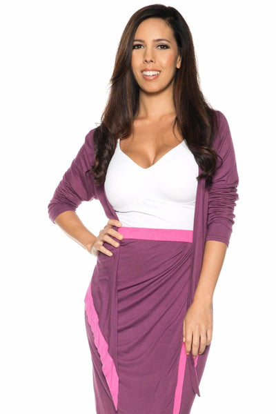 Contrast Long Sleeve Shrug - Rhonda Shear