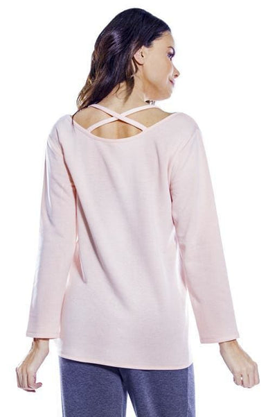 Cozy Criss Cross Back w. Knot Hem - Apparel