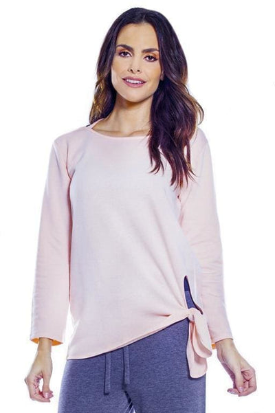 Cozy Criss Cross Back w. Knot Hem - Blush / 2X - Apparel