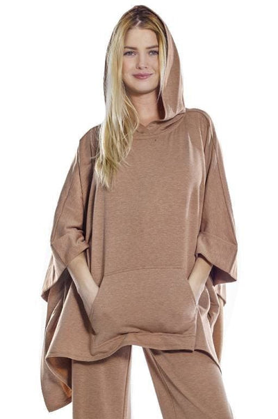 Cozy Hooded Poncho - Rhonda Shear