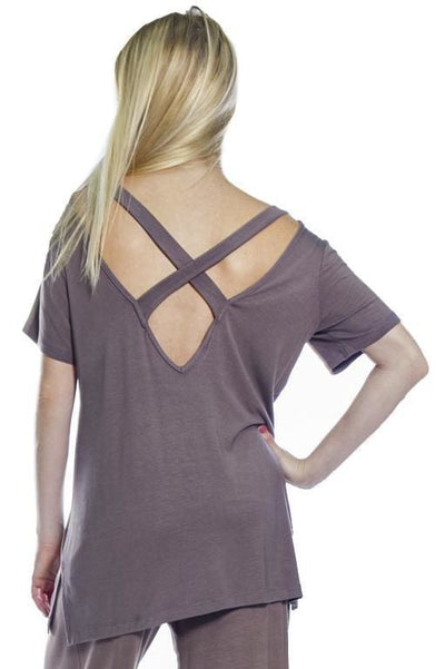 Cross Back Top - Chocolate 18 / S - Apparel