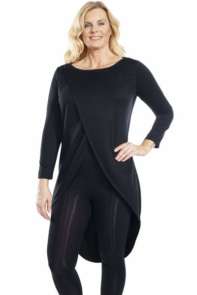 Crossover Front Duster - Black / 1X - Apparel