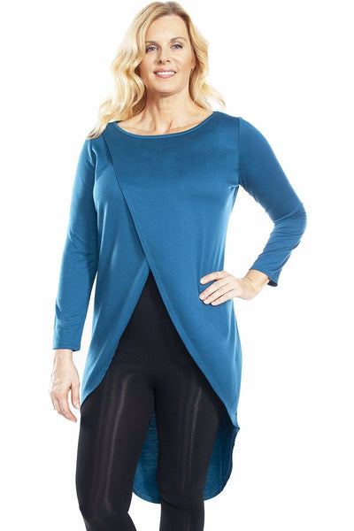 Crossover Front Duster - Teal / 1X - Apparel