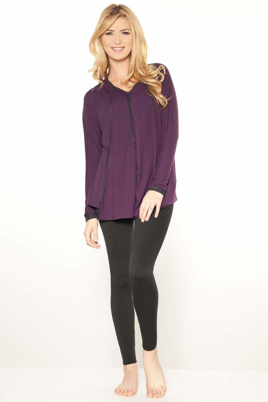 Faux Suede Trim Top- FINAL SALE - Rhonda Shear