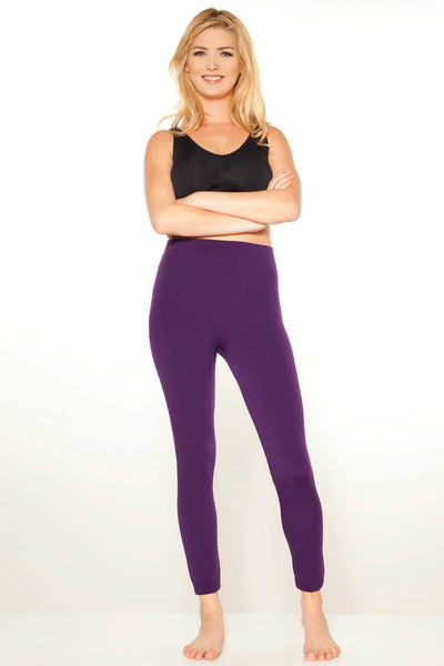 Fleece Legging - Eggplant / S/M - Apparel