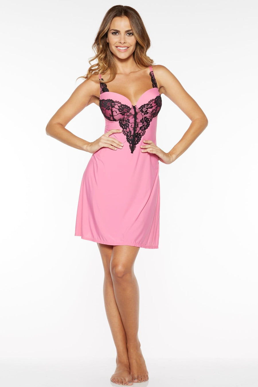 Lace Front Molded Cup Chemise - Rhonda Shear
