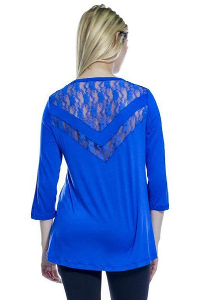 Lace Inset Top - Apparel