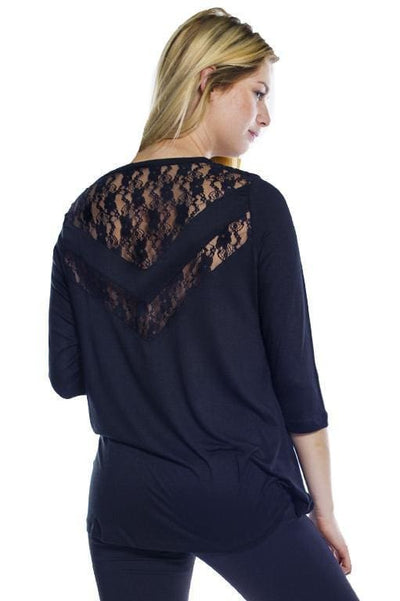 Lace Inset Top - Rhonda Shear