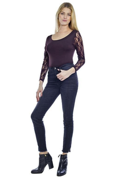 Lace Sleeve Bodysuit