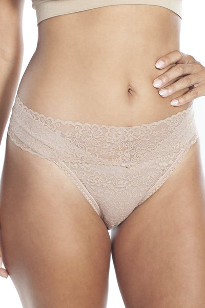 Lace Thong - XS/S / Nude - Intimates