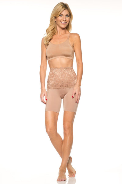 Lace Top Shaping Longline - Nude / M - Intimates