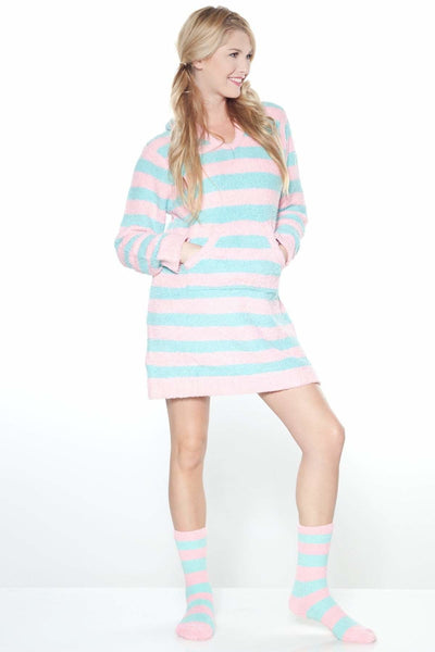Marshmallow Hooded Lounger with Slipper Sock