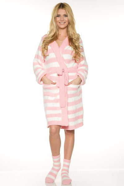 Marshmallow Hooded Robe - Rhonda Shear