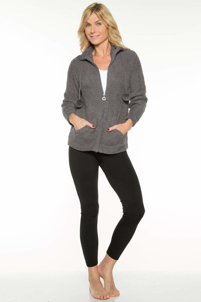 Marshmallow Zip Front Jacket-FINAL SALE - Charcoal / S - Apparel