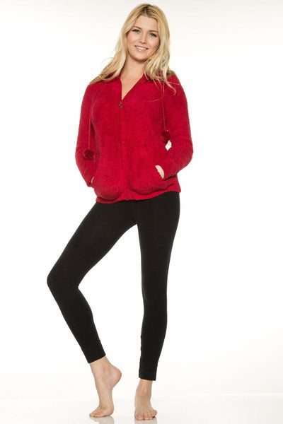 Marshmallow Zip Front Jacket-FINAL SALE - Cranberry / M - Apparel