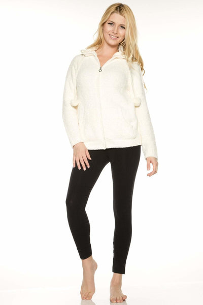 Marshmallow Zip Front Jacket-FINAL SALE - Cream / S - Apparel