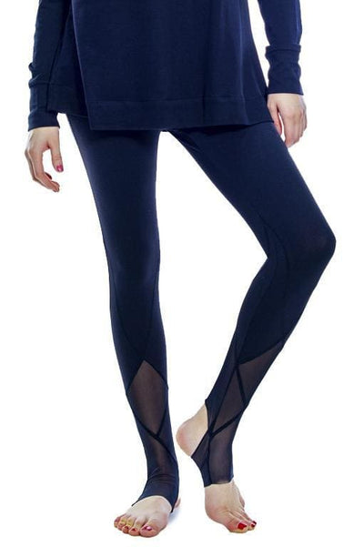 Mesh Detail Legging - Black / S - Apparel