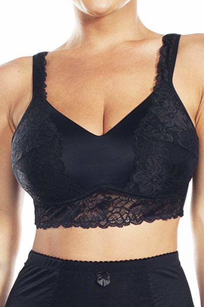 Molded Cup Bra with Lace Detail - Rhonda Shear