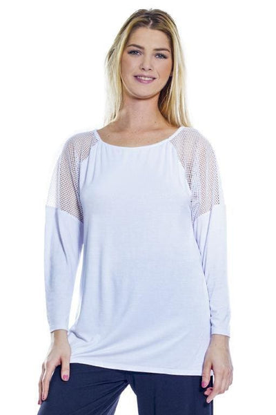 Net Inset Top - Rhonda Shear