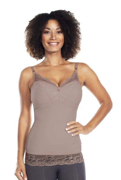 Pin-Up Girl Lace Camisole - Cocoa / XS - Apparel
