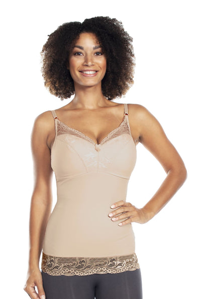 Pin-Up Girl Lace Camisole - Nude / XS - Apparel