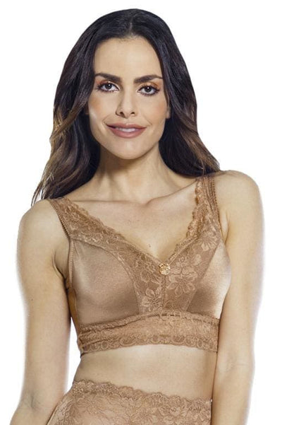 Pin-Up Lace Bra w. Removable Pads & Back Closure