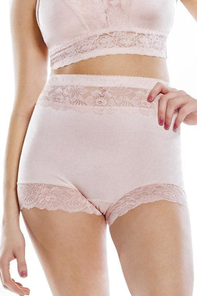 Pin-Up Lace Trim Boyshort Panty - Rhonda Shear