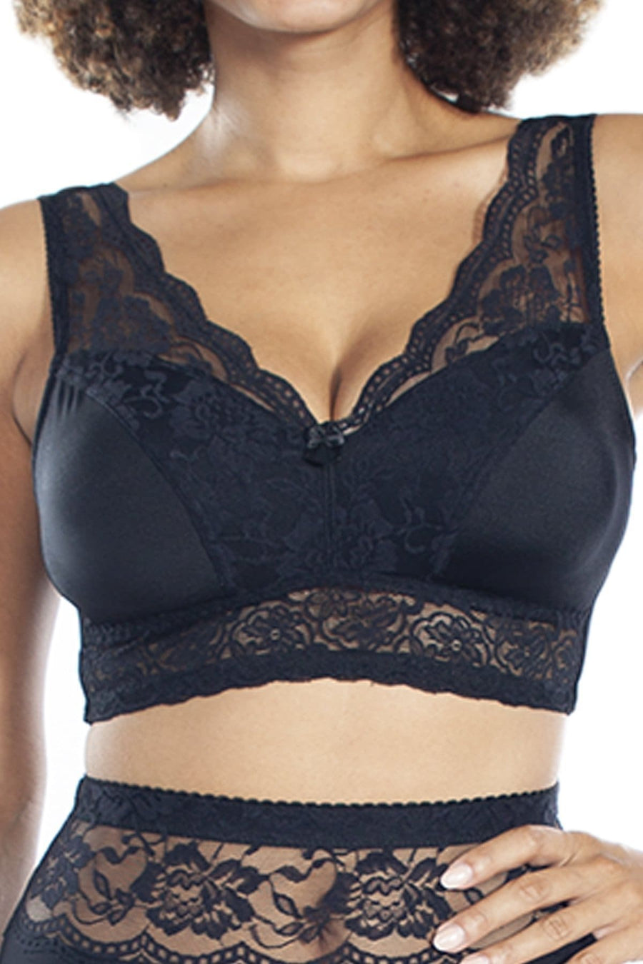 PinUp Girl Lace Leisure Bra w/Pads - Rhonda Shear