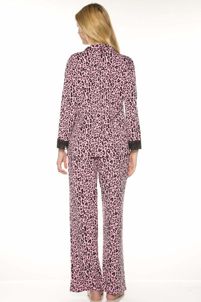 Printed PJ Set - Heart Leopard / S - Sleep