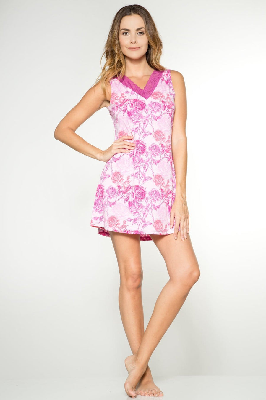 Printed Short Gown - Rhonda Shear