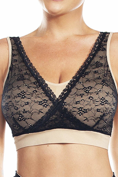 Seamless Bra with Lace - Rhonda Shear