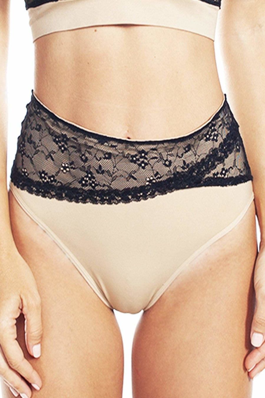 Seamless Brief with Lace - Rhonda Shear
