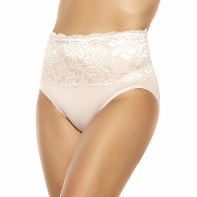 Seamless Brief with Lace Overlay - Rhonda Shear