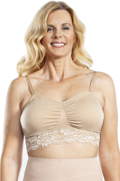 Seamless Lace Bra with Removable Straps