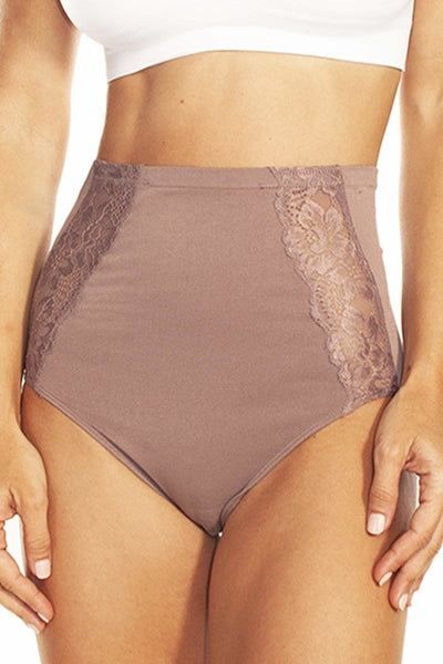 Seamless Panty with Lace Inset