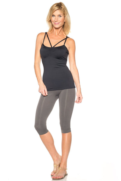 Seamless Shaping Capri Legging - Rhonda Shear