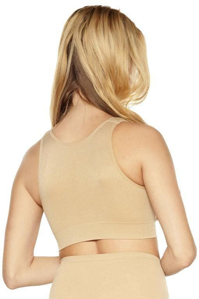Seamless Zip Front Bra with Padded Strap - Rhonda Shear