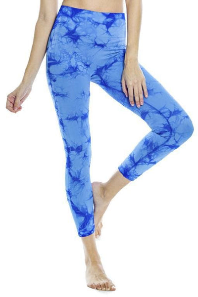 Tie Dye Seamless Legging - Turkish Sea Tie Dye / S - Apparel