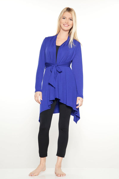 Tie Front Drape Wrap - Midnight / S - Apparel