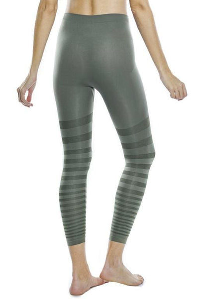 Tonal Striped Seamless Legging - Apparel