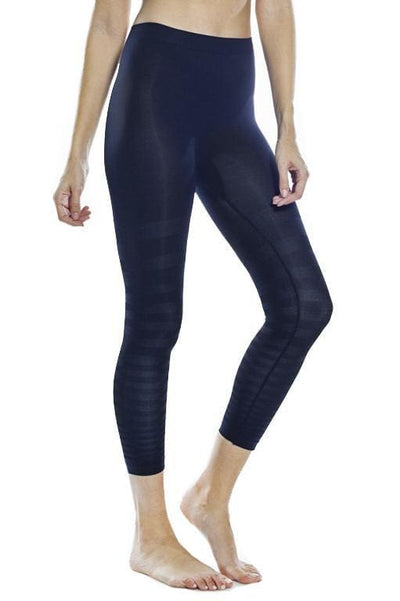 Tonal Striped Seamless Legging - Black / S - Apparel