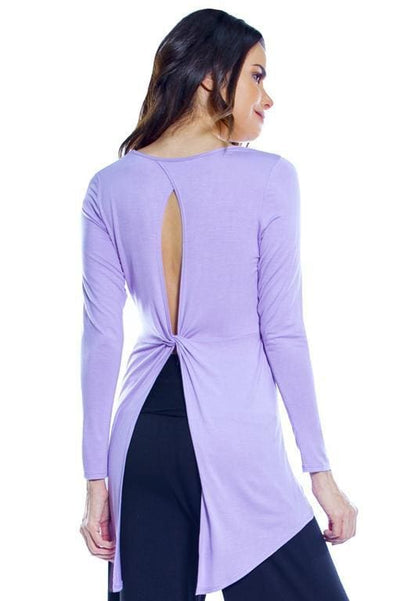 Twist Back Top - Lavender / S - Apparel