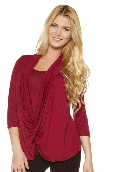 Two in One Drape Top - Rhonda Shear
