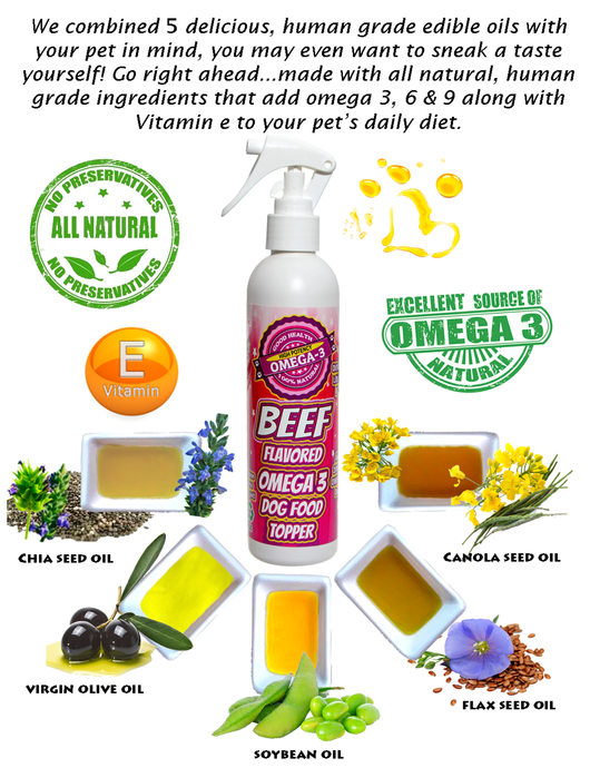 Flavored Omega 3 Dog Food Toppers