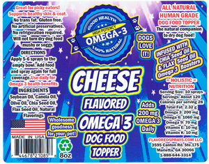 Cheese Flavor Dog Food Topper 8 oz