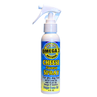 Cheese Spray Dog Food Topper  4 oz