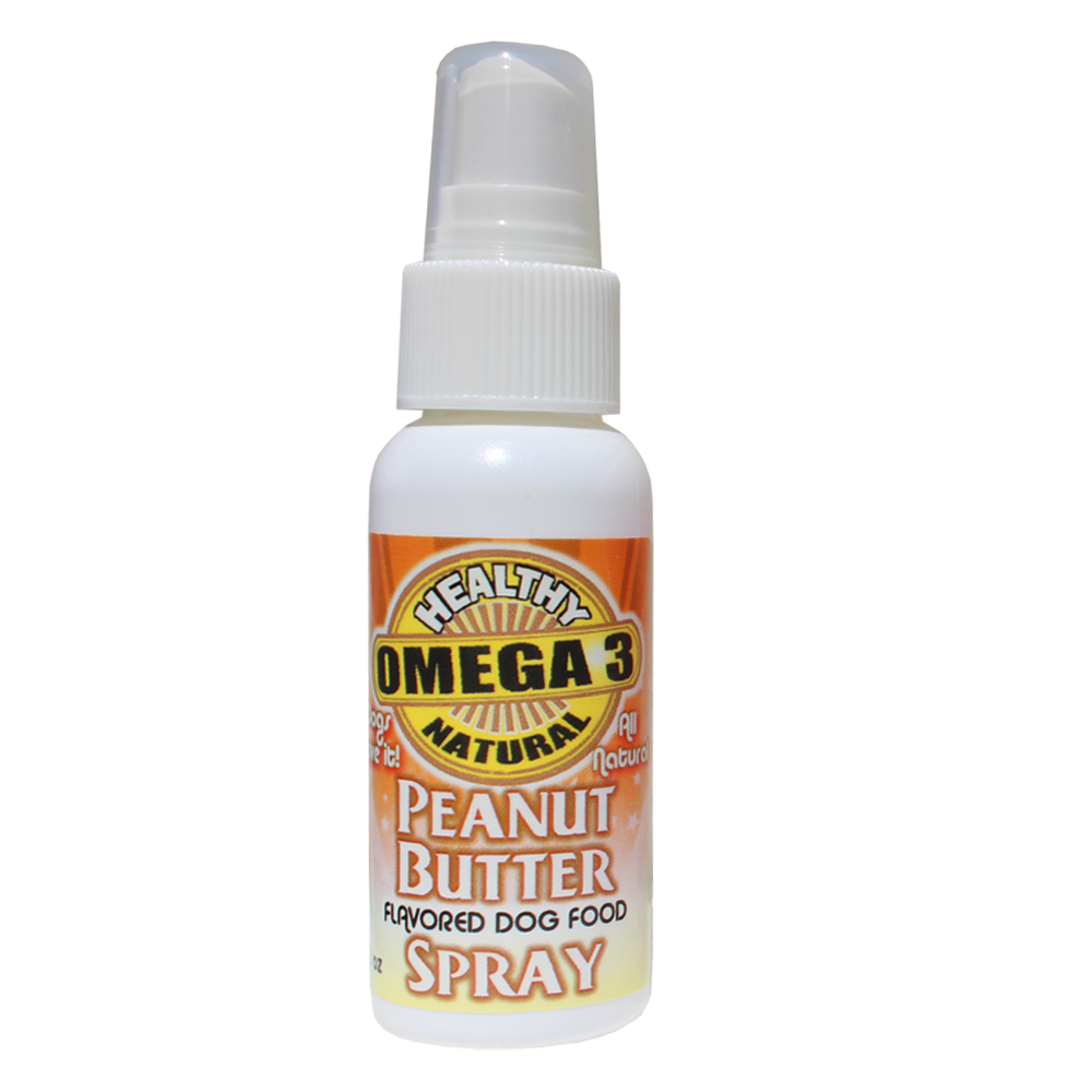 Peanut Butter Flavored Omega 3 Spray - Great for Picky Eaters