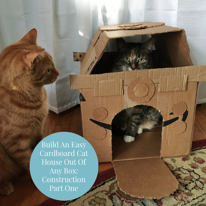 Build An Easy Cardboard Cat House Out Of Any Box: The Construction Part One