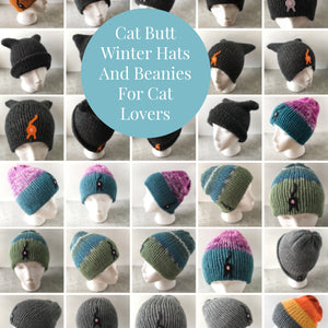 cat butt winter hats and beanies for cat lovers