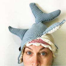Great White Shark Hat Crochet Pattern - Knot By Gran'ma